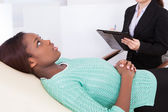 Happy Patient Talking To Psychologist — Stock Photo
