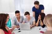 University Students Using Laptop — 图库照片