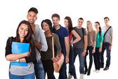 Portrait Of College Students Standing In A Line — Stock Photo