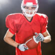 Portrait Of Confident American Football Player On Field — Stock Photo