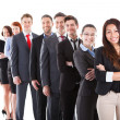 Business people standing in row — Stock Photo #44588891