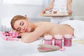 Young Woman Relaxing In Spa — Stock Photo
