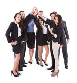 Businesspeople making high five gesture — Stock Photo