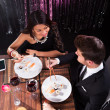 Couple Having Meal At Restaurant — Stock Photo