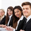 Confident Businesswoman With Colleagues — Stock Photo #46203501