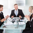 Businesspeople Clapping For Colleague After Presentation — Stock Photo