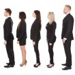 Welldressed Businesspeople Standing In A Line — Stock Photo