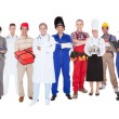 Full Length Of People With Different Occupations — Stock Photo #46206267