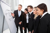 Businesspeople Looking At Flipchart — Stock Photo