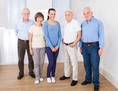 Happy Caregiver With Senior People — Stock Photo