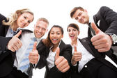 Portrait Of Business People Gesturing Thumbs Up — Stock Photo