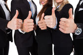Businesspeople Gesturing Thumbs Up — Foto Stock