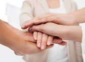 Businesspeople Stacking Hands — Stock Photo