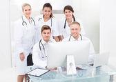 Doctors Using Desktop PC — Stock Photo