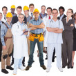 Full Length Of People With Different Occupations — Stock Photo #46619771