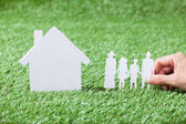 Model Of Family And House — Stock Photo