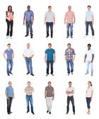 Collage Of Multiethnic People In Casuals — Stock Photo