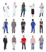 Multiethnic People With Various Occupations — Stock Photo