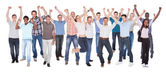 Diverse People In Casuals Celebrating Success — Stock Photo
