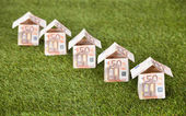 Euro Houses On Grassy Land — Stock Photo