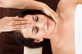 Woman Receiving Head Massage In Spa — Stock Photo