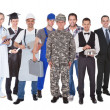 Full Length Of People With Different Occupations — Stock Photo #46620081