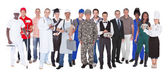 Full Length Of People With Different Occupations — Stock Photo