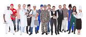 Volledige lengte van mensen met verschillende beroepen — Stockfoto