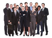 Panoramic Shot Of Confident Businesspeople — Stock Photo