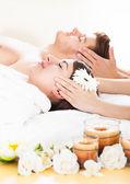 Couple Receiving Head Massage — Stock Photo