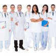 Confident Doctors Against White Background — Stock Photo #47763343