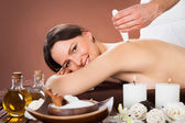 Woman Receiving Microdermabrasion Therapy At Beauty Spa — Stock Photo