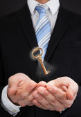 Businessman With Key — Stock Photo