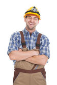 Male Worker With Arms Crossed — Stock Photo