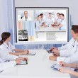 Doctors Having Video Conference Meeting — Stock Photo #48699827
