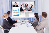 Business People In Video Conference — Stock Photo