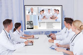 Doctors Having Video Conference Meeting — Stock Photo