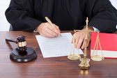 Judge Signing Contract Paper — Stock Photo