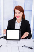 Architect Displaying Screen Of Tablet — Foto Stock