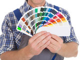 Showing Fanned Color Swatches — Stock Photo