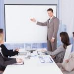 Businessman Giving Presentation — Stock Photo #49570413