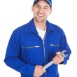 Mechanic Holding Spanner — Stock Photo #49570609