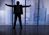 Businessman Standing Arms Outstretched — Foto de Stock