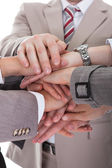 Business People Stacking Hands — Stock Photo