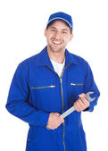 Mechanic Holding Spanner — Stock Photo