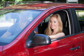 Woman With Man in Car — Stock Photo