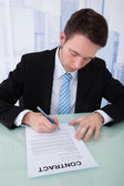 Businessman Signing Contract Paper — Stock Photo