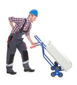 Worker Suffering From Backache — Stock Photo