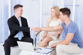 Couple  With Financial Consultant — Stock Photo