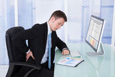 Businessman Suffering From Backache — Stock Photo